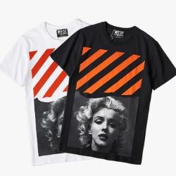 107681 OF 시그니처 마돈나라인 하프 티셔츠 (2Color)
