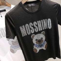 107479 MO 시그니처 베어라인 하프 티셔츠 (2Color)