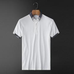 107569 테오도어 컬러블록 포인트 카라 하프 티셔츠 (2Color)