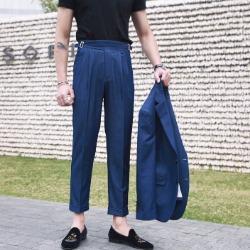 107710 테오도어라인 데님포인트 9부 슬랙스 (Blue)