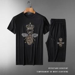 107565 비조라인 크라운 꿀벌포인트 하프 트레이닝 세트 (Black)