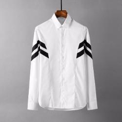 107783 유니크 시메트릭 트랙포인트 히든버튼 셔츠 (White)