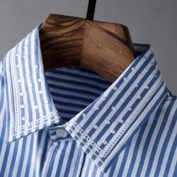 107817 스플렌디드라인 도트포인트 스트라이프 셔츠 (Blue)