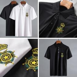 107808 스플렌디드 스타크라운 포인트 카라 하프 티셔츠 (2Color)