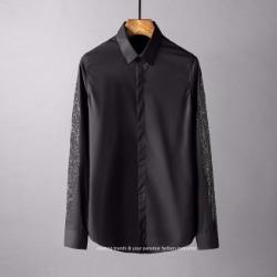 107791 시메트릭 비조레인 리프포인트 히든버튼 셔츠 (2Color)
