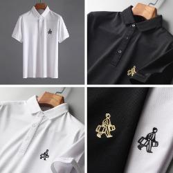 107810 베이직 스플렌디드 쇼퍼라인 카라 하프 티셔츠 (2Color)