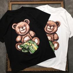 107870 스플렌디드 리치베어 프린팅 하프 티셔츠 (2Color)
