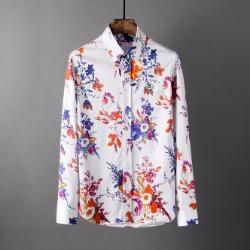107816 유니크 아크라인 플라워패턴 포인트 셔츠 (White)