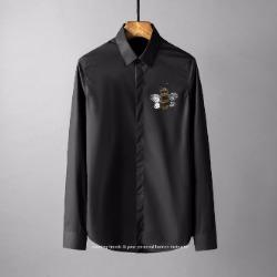 107788 고저스라인 꿀벌 비조포인트 히든버튼 셔츠 (4Color)
