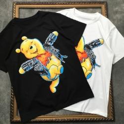 107869 유니크 라이더 푸우라인 프린팅 하프 티셔츠 (2Color)