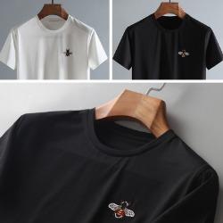 107805 GU 시그니처 꿀벌엠브로이드 포인트 하프 티셔츠 (2Color)