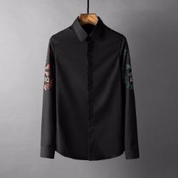 107829 시그니처 시메트릭 스컬포인트 히든버튼 셔츠 (2Color)