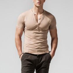 107843 테오도어 미니멀라인 브이넥 하프 티셔츠 (6Color)