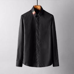 107782 GU 시그니처 컬러박스 꿀벌포인트 히든버튼 셔츠 (Black)