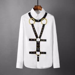 107780 스플렌디드 시메트릭 골드링 프린팅 셔츠 (White)