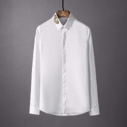 107789 비조라인 리프 엠브로이드 히든버튼 셔츠 (4Color)