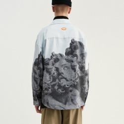 107899 엔티크라인 스플렌디드 프린팅 헤비오버핏 셔츠 (Multi)