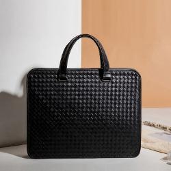 107939 고저스라인 다이아그널 패턴 서류가방 (Black)