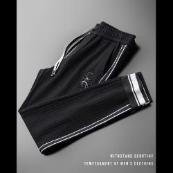 107902 크라운꿀벌 스티치 트랙포인트 트레이닝 팬츠 (Black)