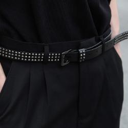 107892 유니크라인 징포인트 패턴 벨트 (Black)