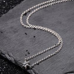 107982 유니크 메탈릭라인 스타포인트 목걸이 (Silver)