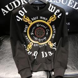 108126 유니크라인 치카노 레터링 맨투맨 티셔츠 (Black)