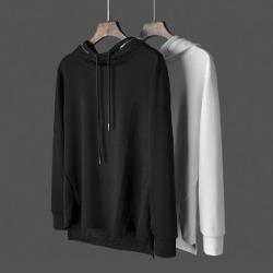 108045 베이직 고저스라인 지퍼포인트 후드 티셔츠 (2Color)