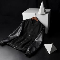 108047 스플렌디드 고저스라인 레더포인트 블루종 점퍼 (Black)