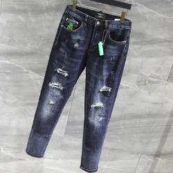 108178 유니크 베이직라인 데미지 포인트 데님 팬츠 (Dark Blue)