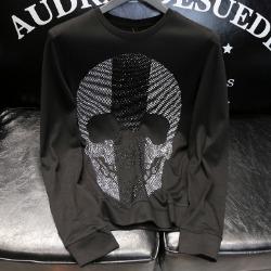 108143 PH 시그니처 스컬 비조포인트 맨투맨 티셔츠 (Black)