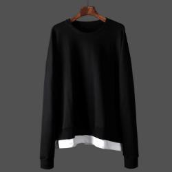 108043 고저스라인 레이어드 헤비오버 맨투맨 티셔츠 (Black)