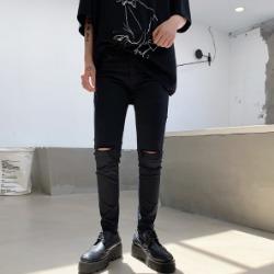 108111 시메트릭라인 디스트로이드 코튼 팬츠 (Black)