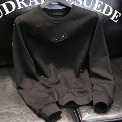 108120 시그니처 아이라인 패턴포인트 맨투맨 (Black)