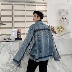 107996 스플렌디드 레이포인트 오버핏 데님 점퍼 (Blue)