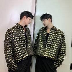 108001 로얄 프레데릭라인 패턴프린팅 헤비오버핏 셔츠 (Black)