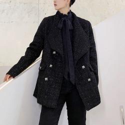 108240 유니크 프레데릭 징라인 매듭포인트 자켓 (Black)