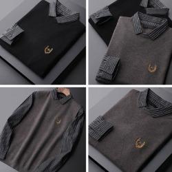 108400 페이크라인 니트베스트 포인트 스트라이프 셔츠 (2Color)