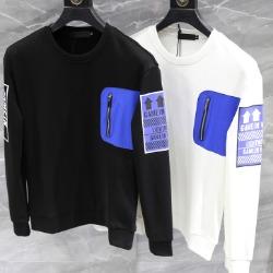 108278 유니크라인 지퍼포켓 포인트 맨투맨 티셔츠 (2Color)