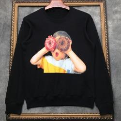 108330 스플렌디드 도넛차일드 프린팅 맨투맨 티셔츠 (2Color)