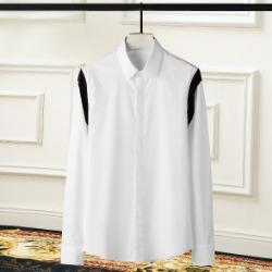 108429 미니멀리즘 사이드라인 포인트 히든버튼 셔츠 (2Color)