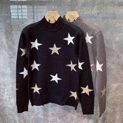 108434 프레데릭라인 스타 패턴포인트 하프폴라 니트 (2Color)