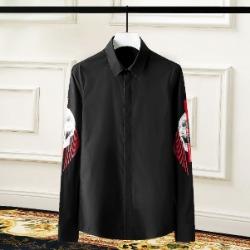 108430 유니크 사이드라인 스컬프린팅 히든버튼 셔츠 (2Color)