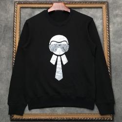 108316 시그니처 라거펠트 프린팅 맨투맨 티셔츠 (2Color)