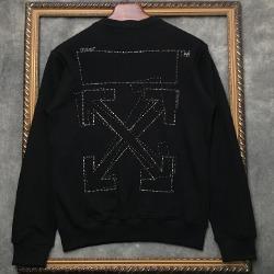 108309 시그니처 비조포인트 맨투맨 티셔츠 (Black)