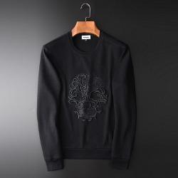 108364 엘레강스 스컬라인 엠브로이드 맨투맨 티셔츠 (Black)