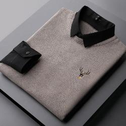 108395 페이크 레이어드 디어라인 엠브로이드 셔츠 (2Color)