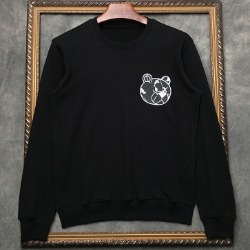108318 유니크라인 앵그리 테디베어 프린팅 맨투맨 티셔츠 (2Color)