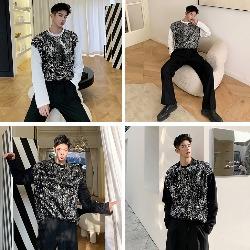 108487 스플렌디드 비조라인 샤이닝 오버핏 티셔츠 (Black)