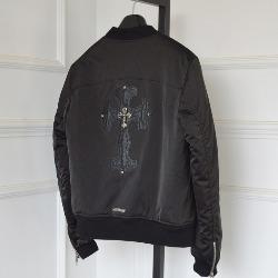 108481 시그니처 크로스 포인트 오버핏 블루종 점퍼 (Black)