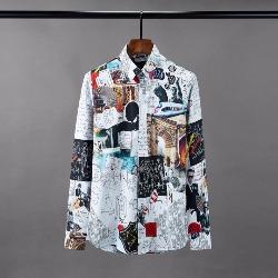 108515 아트라인 베리어스 멀티프린팅 히든버튼 셔츠 (White)